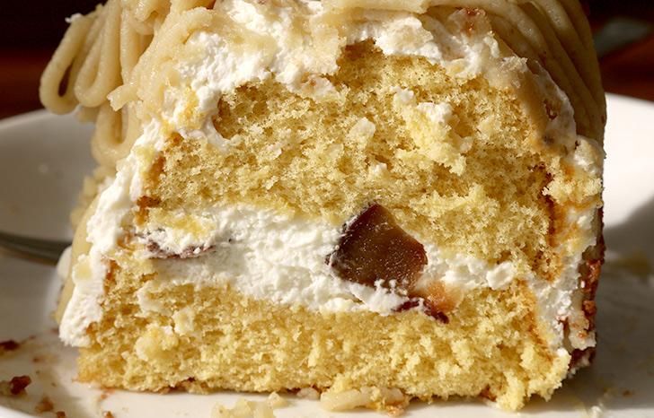 ケーキの断面 ほくほく和栗&和三盆のモンブラン ラ・ファミーユ