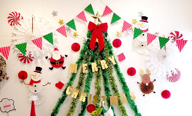 クリスマスランチブッフェ クリスマスフォトブース完成