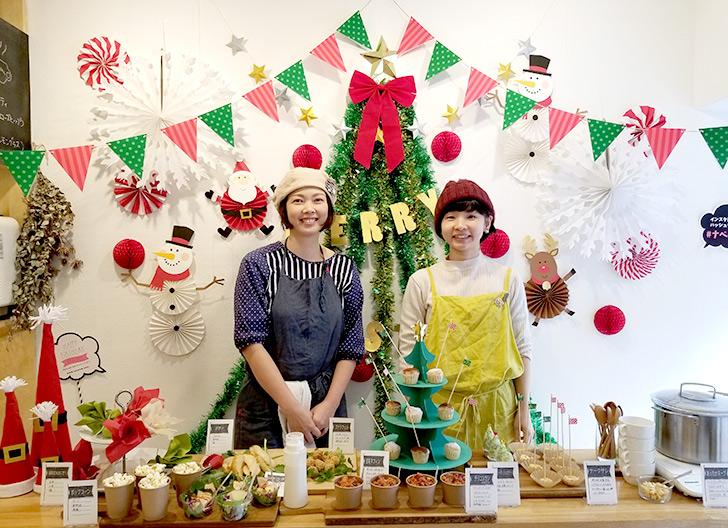レクトサンドカフェ オーナー&スタッフ記念撮影 クリスマスランチブッフェ