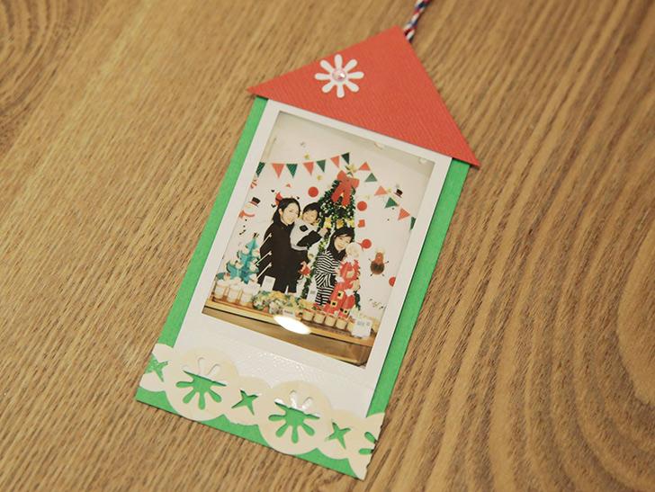 チェキの写真が入るクリスマスカード