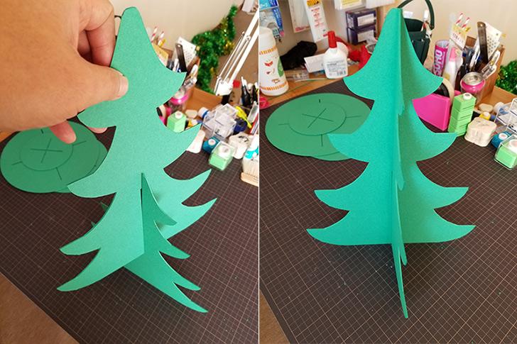 クリスマスツリー型カップケーキスタンドの作り方