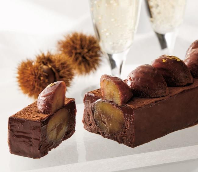 大きな国産栗にこだわったチョコレート「テリーヌショコラマロン」ディノス