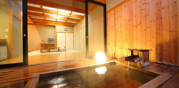 草津ナウリゾートホテル 露天風呂付きの部屋