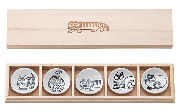 リサ・ラーソン スケッチ 箸置 5個セット (木箱入) 5柄