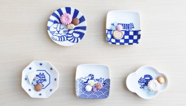 LISA LARSON 豆皿5枚セット(ねこ)・箱入