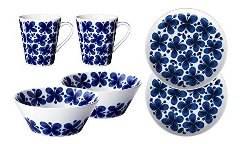 Rorstrand(ロールストランド) Mon Amie(モナミ) 食器セット マグカップ340ml×2個 ボウル600ml×2個 プレート18cm×2枚