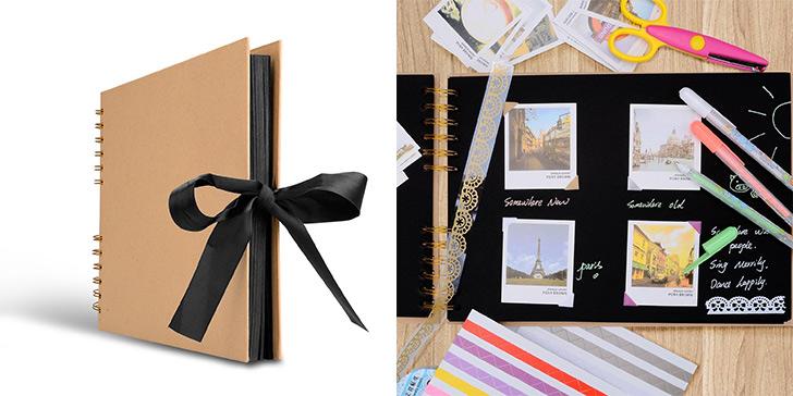 思い出写真とメッセージで自作した手作りアルバムをプレゼント