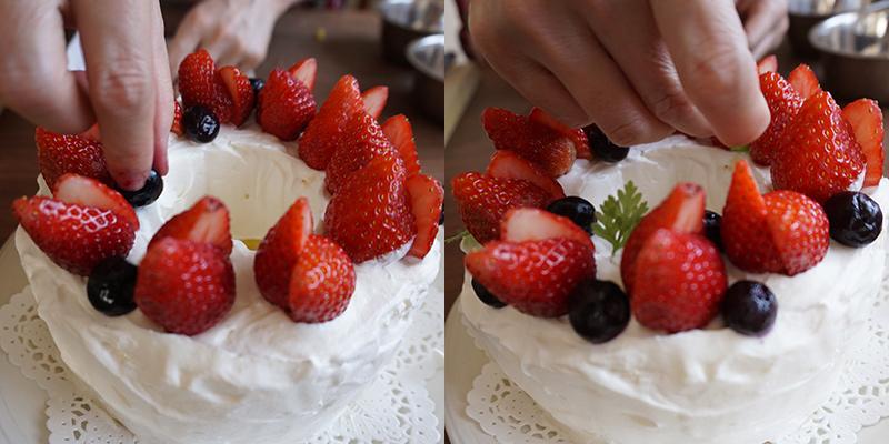 デコレーション シフォンケーキの作り方