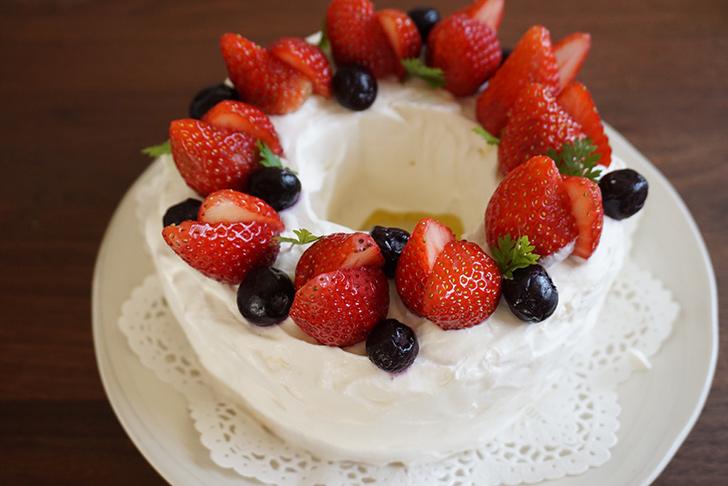 完成 シフォンケーキの作り方