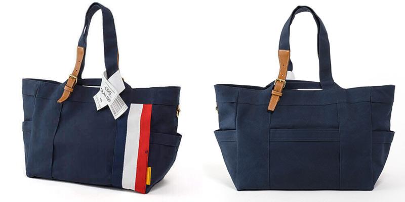 帆布トートには珍しい、立体的なデザイン ダブルループの人気頒布トートバッグ「JOURNEY resort」