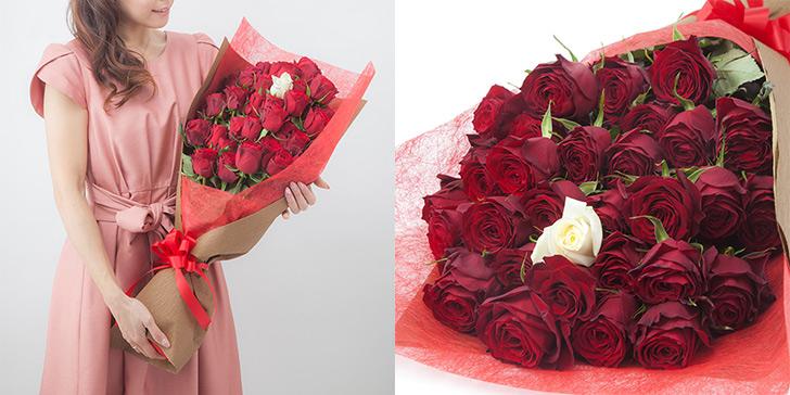 年の数だけある花束をプレゼント
