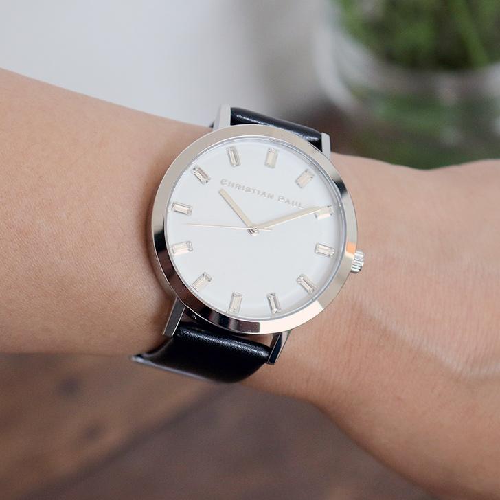 クリスチャンポール腕時計 ラグゼコレクション S003BKSV 43mm 商品レビュー 口コミ-8