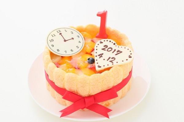 1歳の誕生日のバースデーケーキ