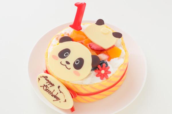 1歳の誕生日のバースデーケーキ パンダ