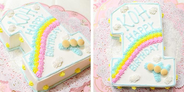 1歳の誕生日ケーキ 数字の1 ナンバーケーキ
