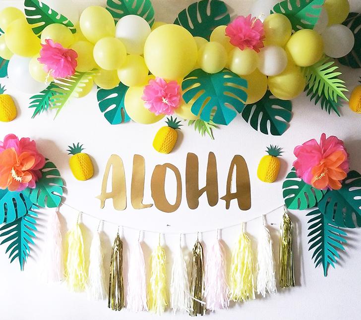 アロハ・ハワイアン・トロピカルな飾り付け パーティーデコレーション