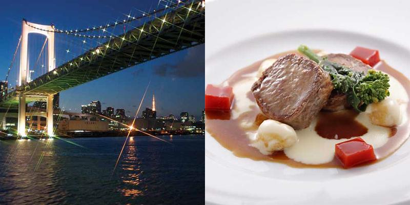 シンフォニー東京湾クルーズ 船上からの景色とコース料理