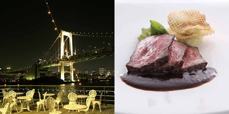 東京湾クルーズ ヴァンテアン 夜景と料理