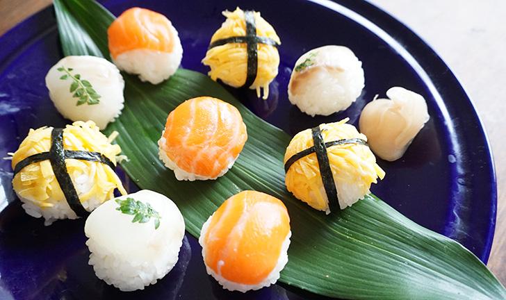 お祝いに華やかな一皿を「手まり寿司」の作り方