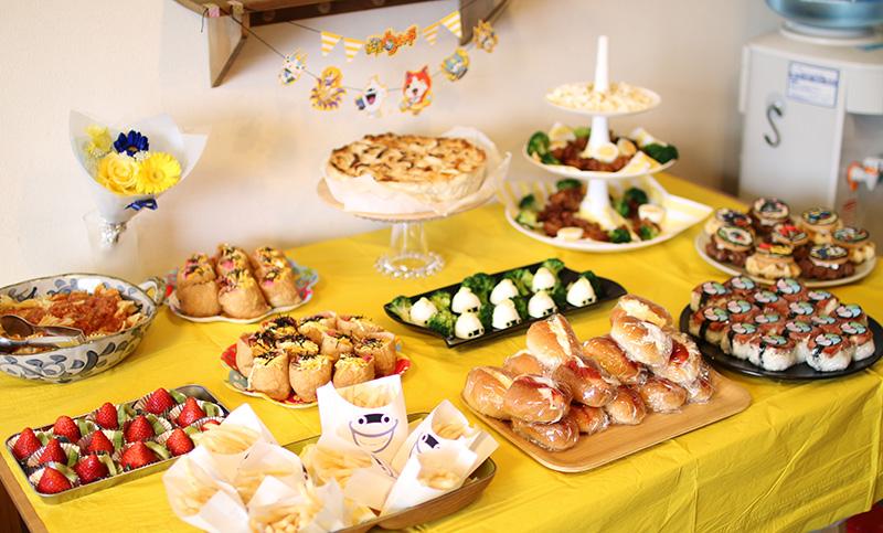妖怪ウォッチがテーマの誕生日パーティー料理
