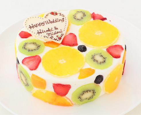 カラフルなフルーツの断面が可愛い!「断面フルーツケーキ」