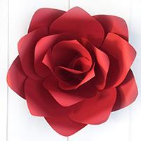 ジャイアントフラワー手作りキット ローズレッド Mサイズ(花径30cm)