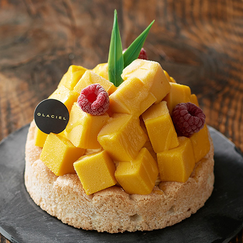 南国感漂うアイスケーキ「マンゴーパッション」