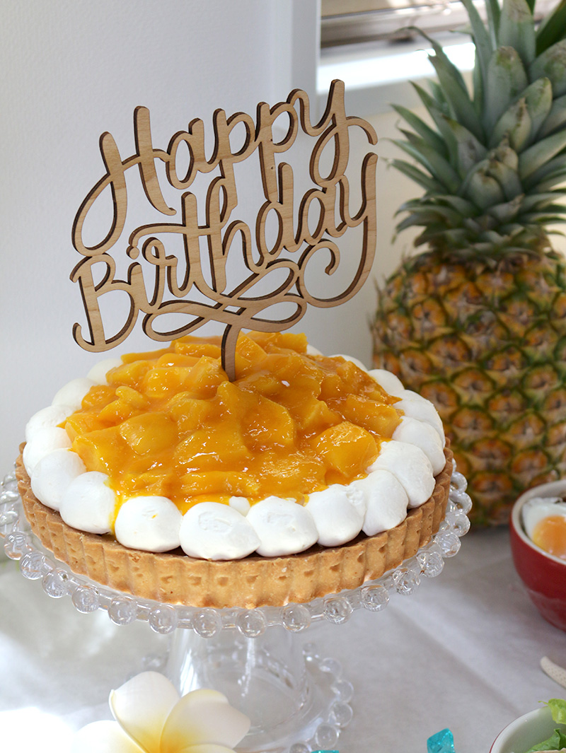 アップルマンゴーのタルト 7号 21cm サンタアンジェラ cake.jp