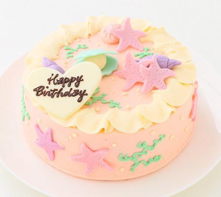 女の子に最適!「マーメイドバタークリームデコレーションケーキ」