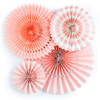 かわいいピンク色のペーパーファンデコレーションセット