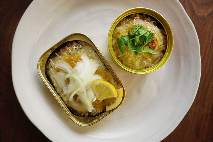 2種の魚缶パン粉焼き