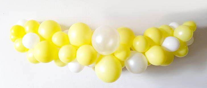 バルーンガーランド 黄色&ホワイト