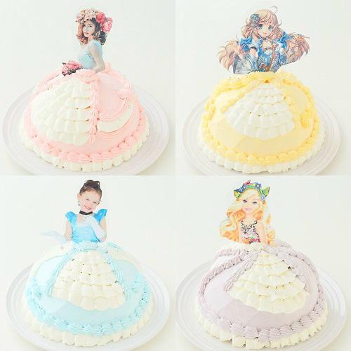 パネルに印刷するタイプのドールケーキ