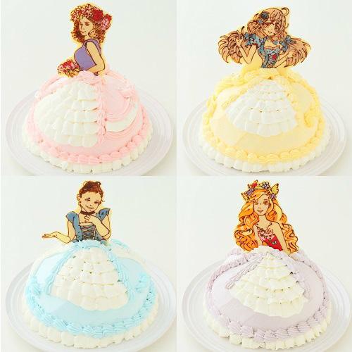 チョコプレートに描くタイプのドールケーキ