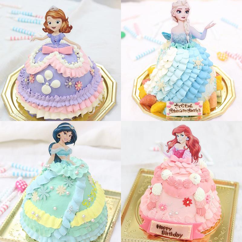 ディズニープリンセスのドールケーキ