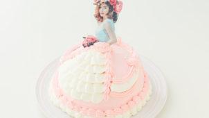 ドールケーキ、ドレスケーキ、プリンセスケーキ