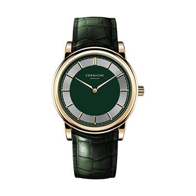 CORNICHE コーニッシュ ヘリテージC2Heritage C2 - Gold / Green / Green - 40mm