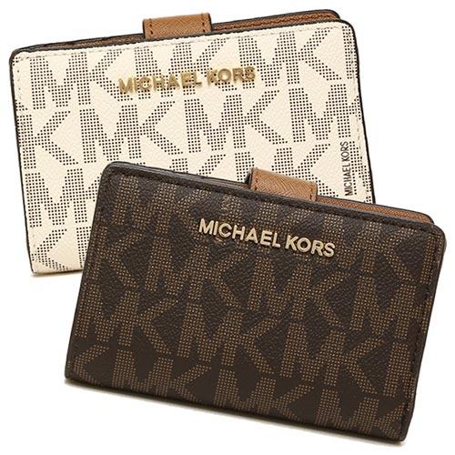 マイケルコース 財布 アウトレット MICHAEL KORS 35F7GTVF2B JET SET TRAVEL BIFOLD ZIP COIN WALLET レディース 二つ折り財布