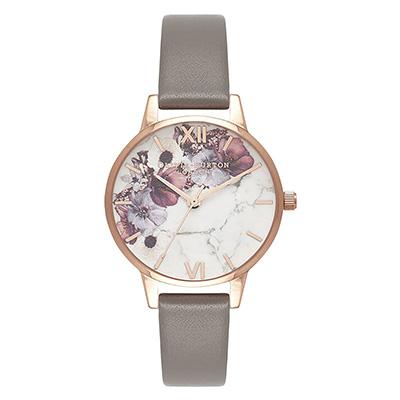 オリビアバートン マーブルフローラル ロンドングレイ&ローズゴールド レディース時計