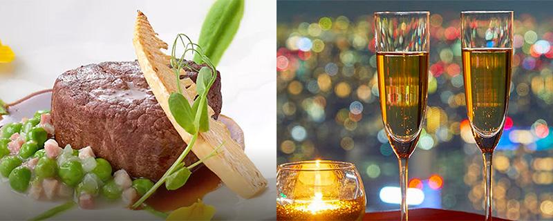 新宿|ワイン&ダイニング デュークの料理と夜景
