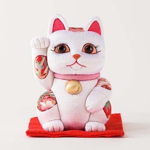 【柿沼人形】江戸木目込み 招き猫 風水 大