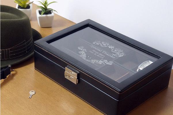 【アクセサリーボックス】メンズボックス Lサイズ 名入れ メッセージ刻印