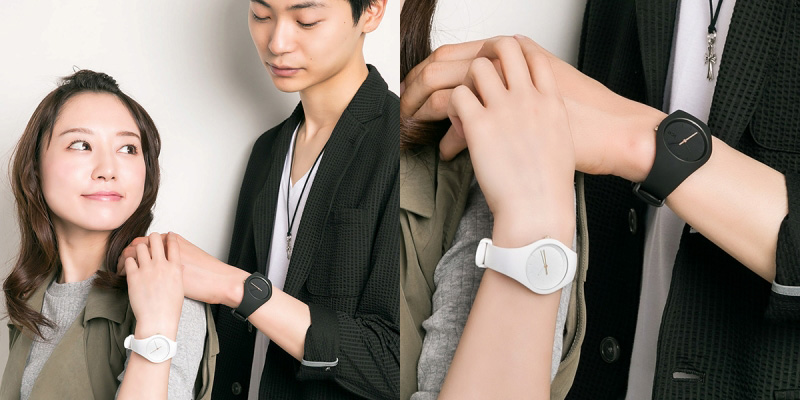 ICE-WATCH ICE fil rouge deux ペアウォッチ 着用イメージ
