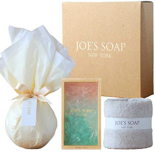 JOE'S SOAP ジョーズソープ ギフトセット(バスボム+グラスソープ+タオル)