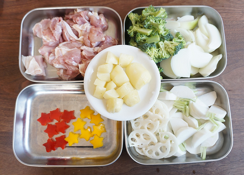 ぎゅうぎゅう焼き レシピ 食材のカット