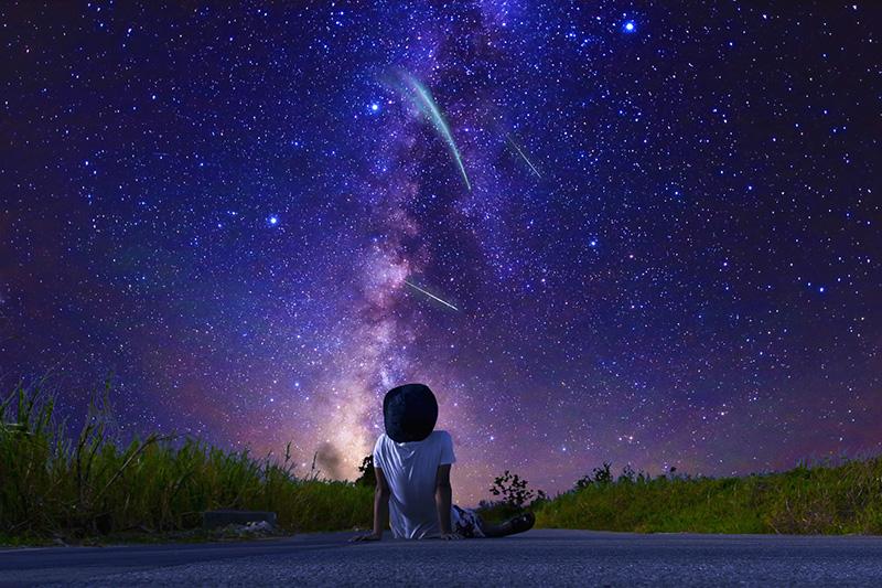 満天の星空が見える場所