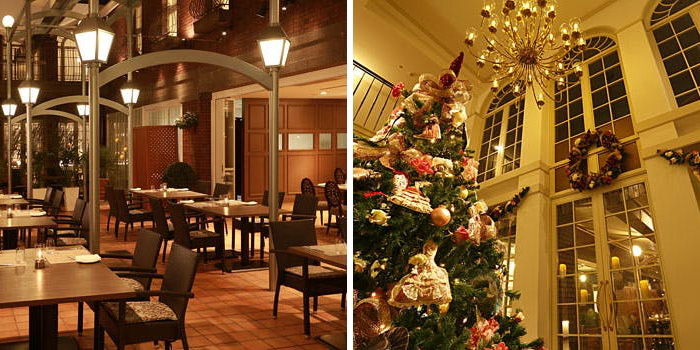 4位 ダイニング イグレック/神戸北野ホテル 店内 クリスマスツリー