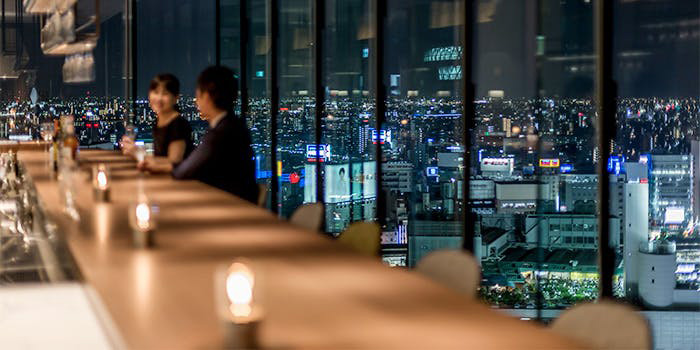 The Living Room with SKY BAR/三井ガーデンホテル名古屋プレミア 18階 夜景の見える席