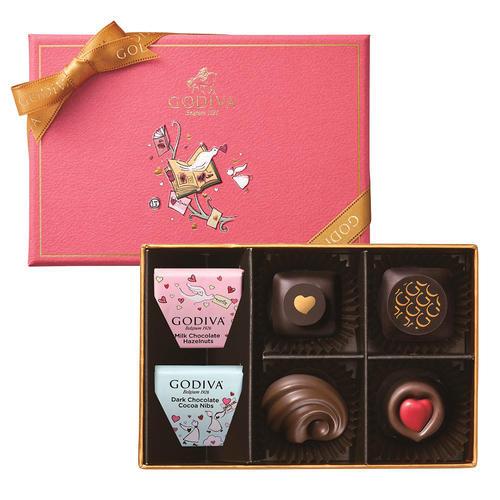 ゴディバ バレンタインチョコレート2020 チョコレート クロニクル スウィート アソートメント(6粒入)