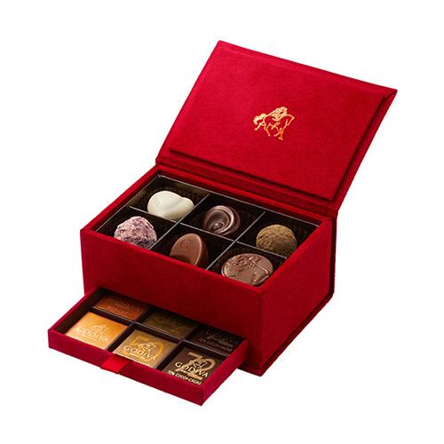 ゴディバ バレンタインチョコレート2019 グランプラス レッド 12粒